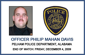 Philip Mahan Davis - End of Watch December 4, 2009